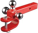 Chrome Tri-Ball Trailer Hitch Mount with U clevis
